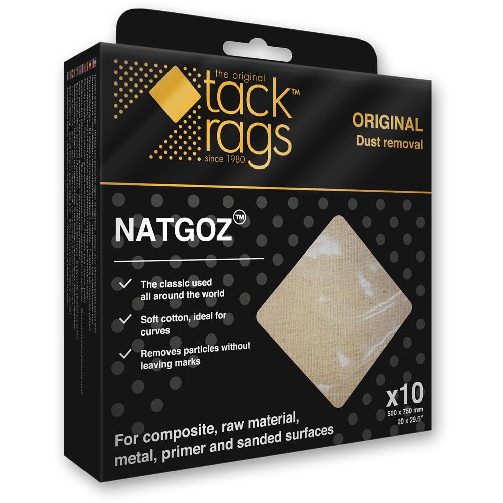 Tack Rags Original Cloth NATGOZ Lint Free (Pkt 10)