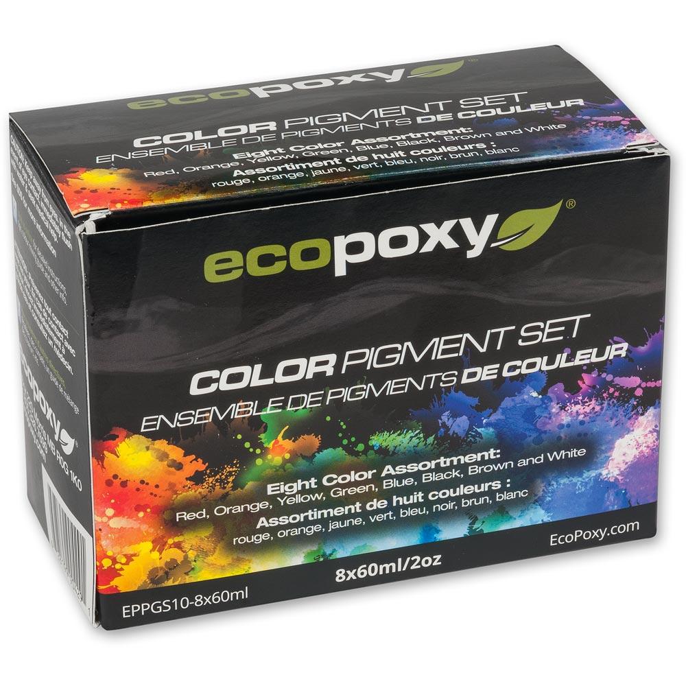 EcoPoxy Colour Pigment Dyes - Set of 8 x 60ml