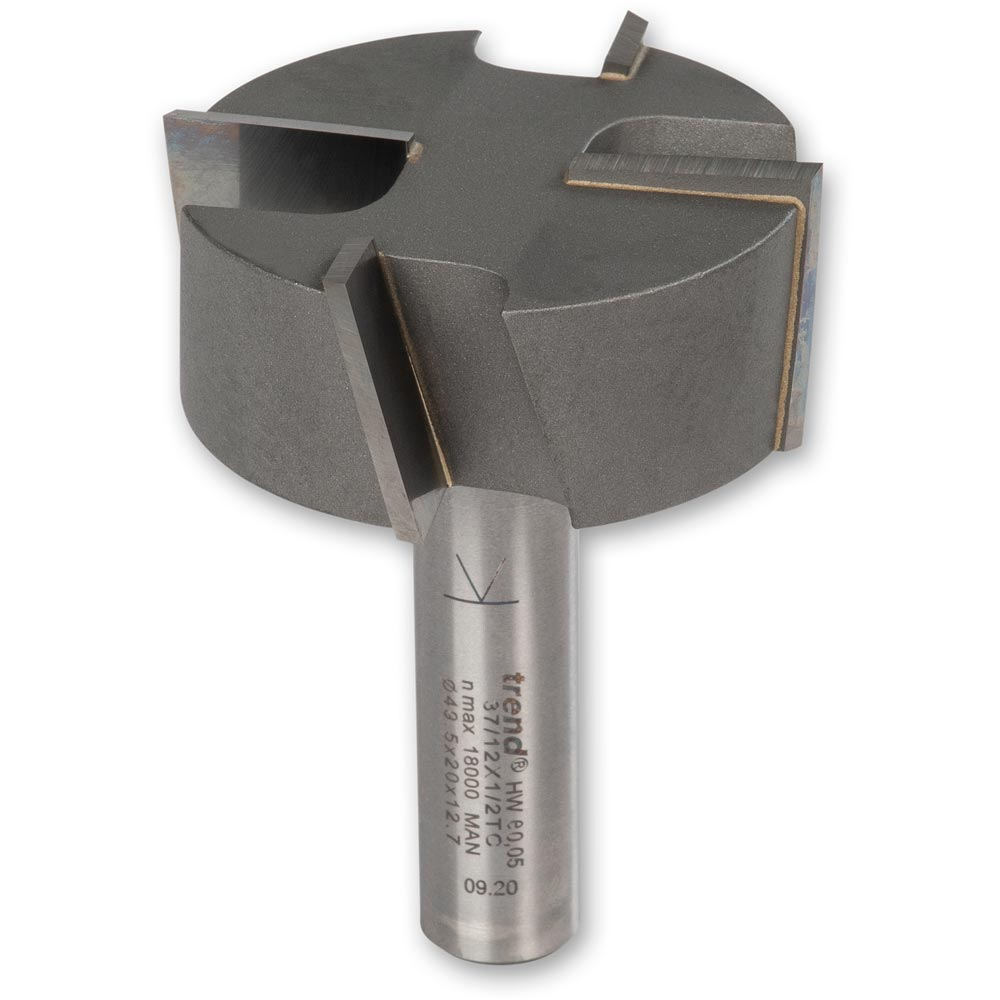 """Trend 4 Flute Straight Tenon/ Milling Router Cutter 1/2"""""""