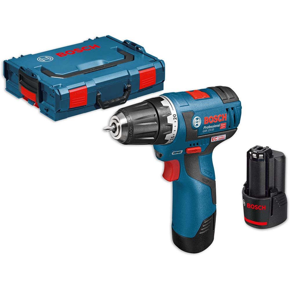 Bosch gsr 12v 20 brushless drill driver 10 8v 12v 2 0ah for Bosch electric motors 12v