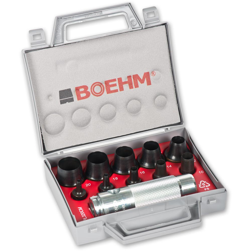 BOEHM 10 Piece Hollow Punch Set - 3 to 20mm