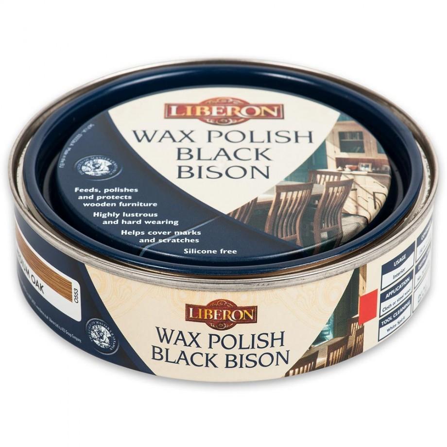 Liberon Black Bison Paste Wax - Medium Oak 150ml