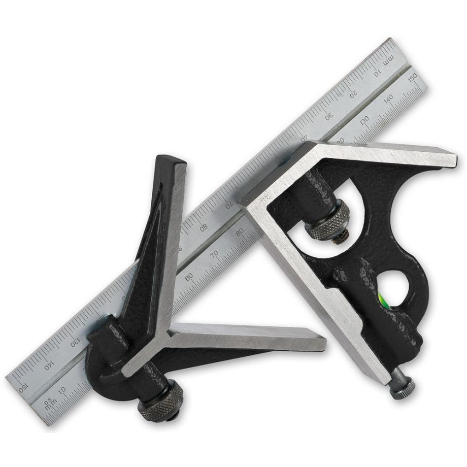 """Axminster Workshop 150mm/6"""" Cast Iron Combination Square"""