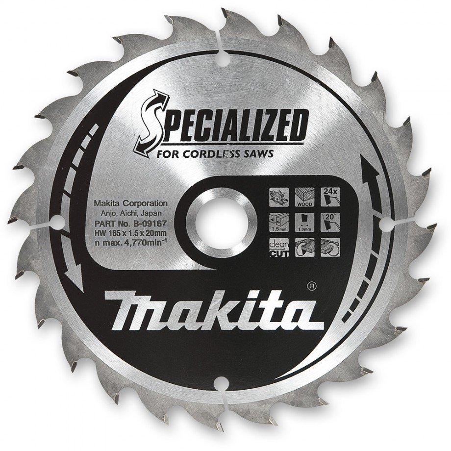 Makita sawblade 165mm x 20mm t24 circular saw blades power makita sawblade 165mm x 20mm t24 greentooth Images