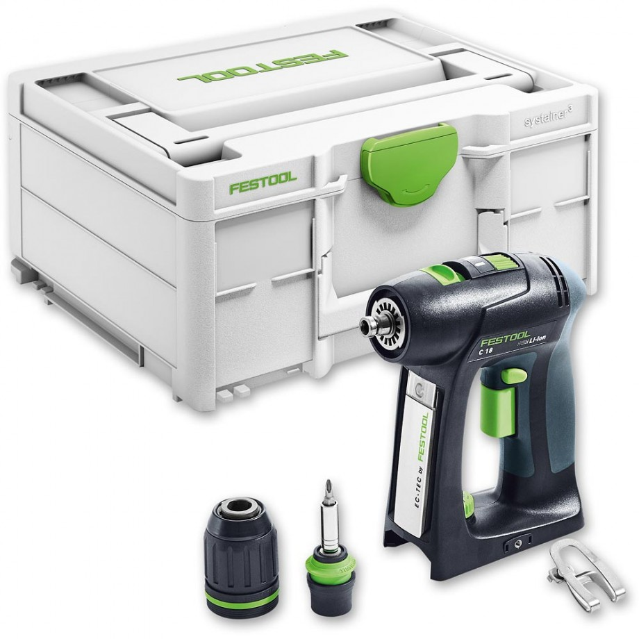 Festool C18 Li Cordless Drill Basic 18V (Body Only)