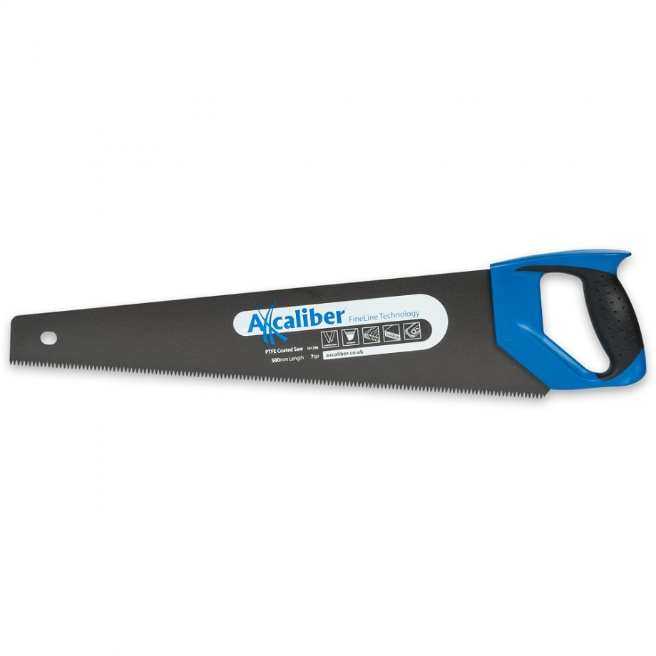 "Axcaliber Fineline PTFE Coated Handsaw 7tpi - 500mm(20"")"