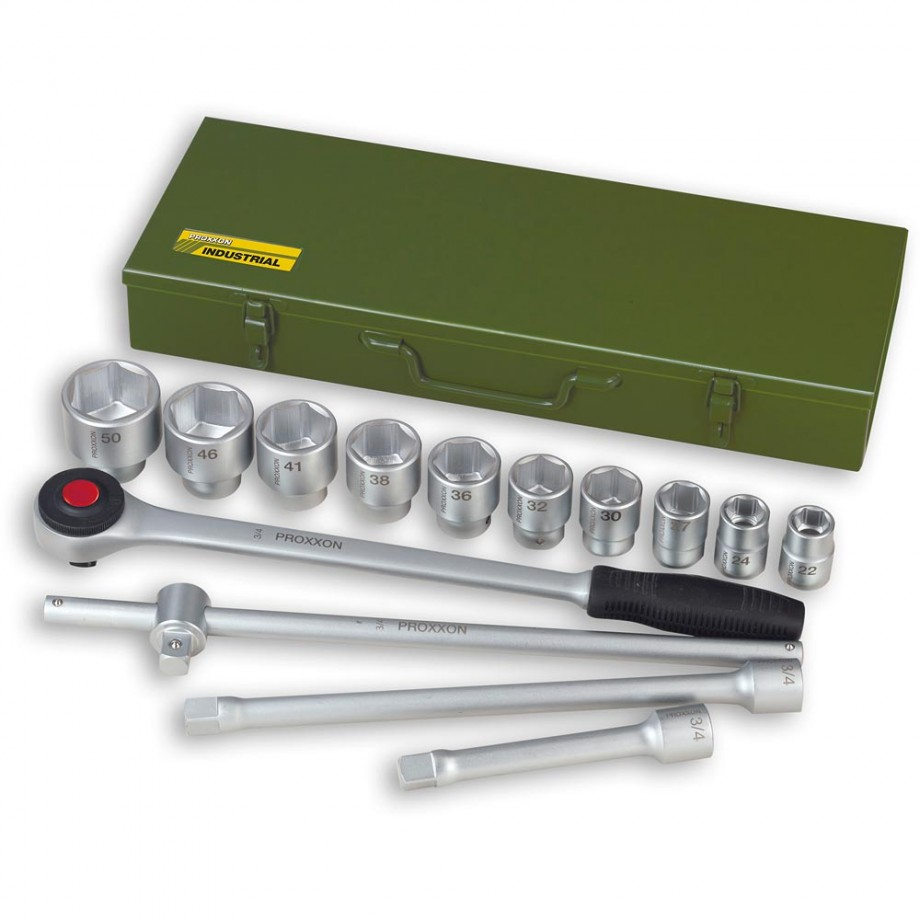 "Proxxon 14 Piece Metric Socket Set (3/4"")"