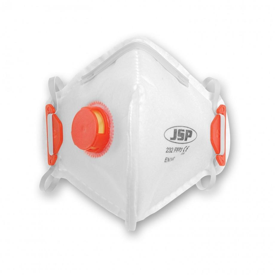 JSP Vertical Fold Flat Respirator Valved FFP3 (Pkt 10)
