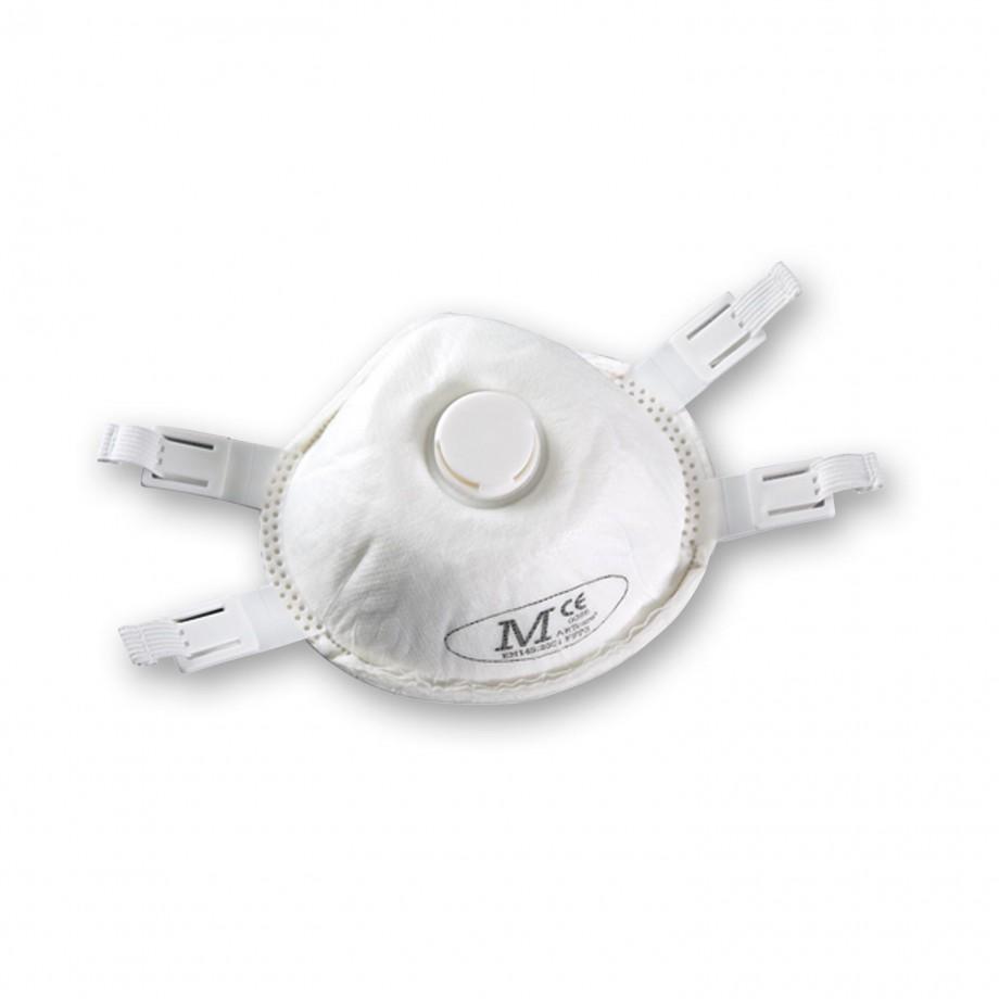 JSP Martcare Moulded Respirator Valved FFP3 (Pkt 5)