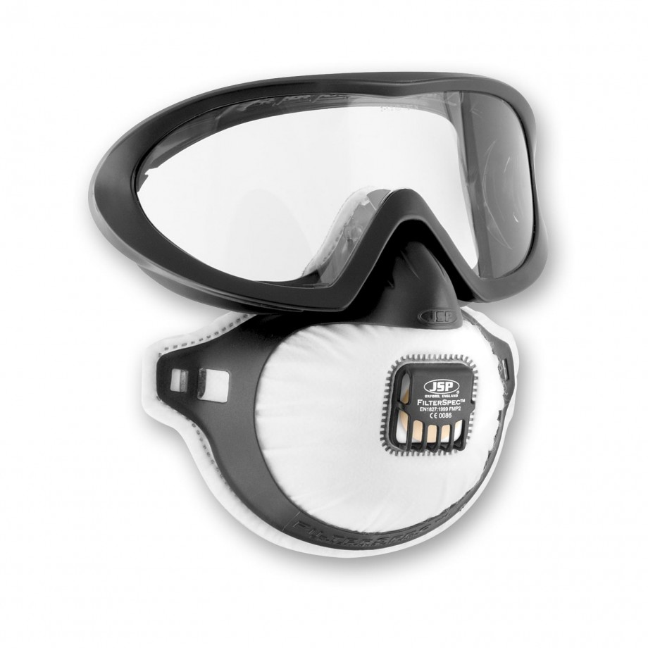 JSP FilterSpec® Mask & Goggle Combo FMP2V