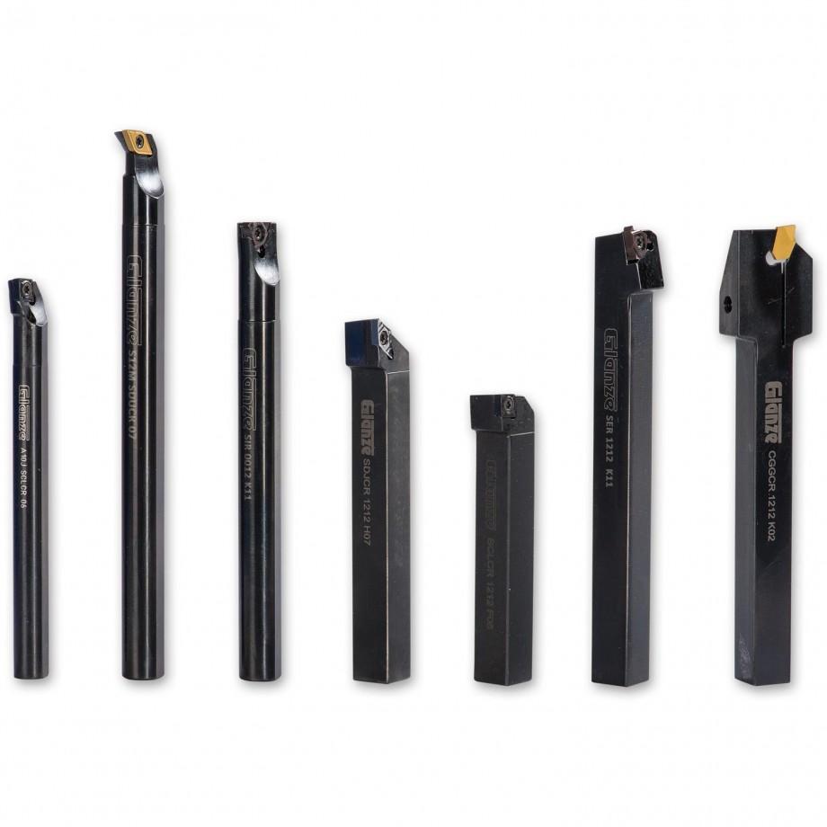 Glanze 7 Pcs Indexable TCT Tool Set 12mm Shank
