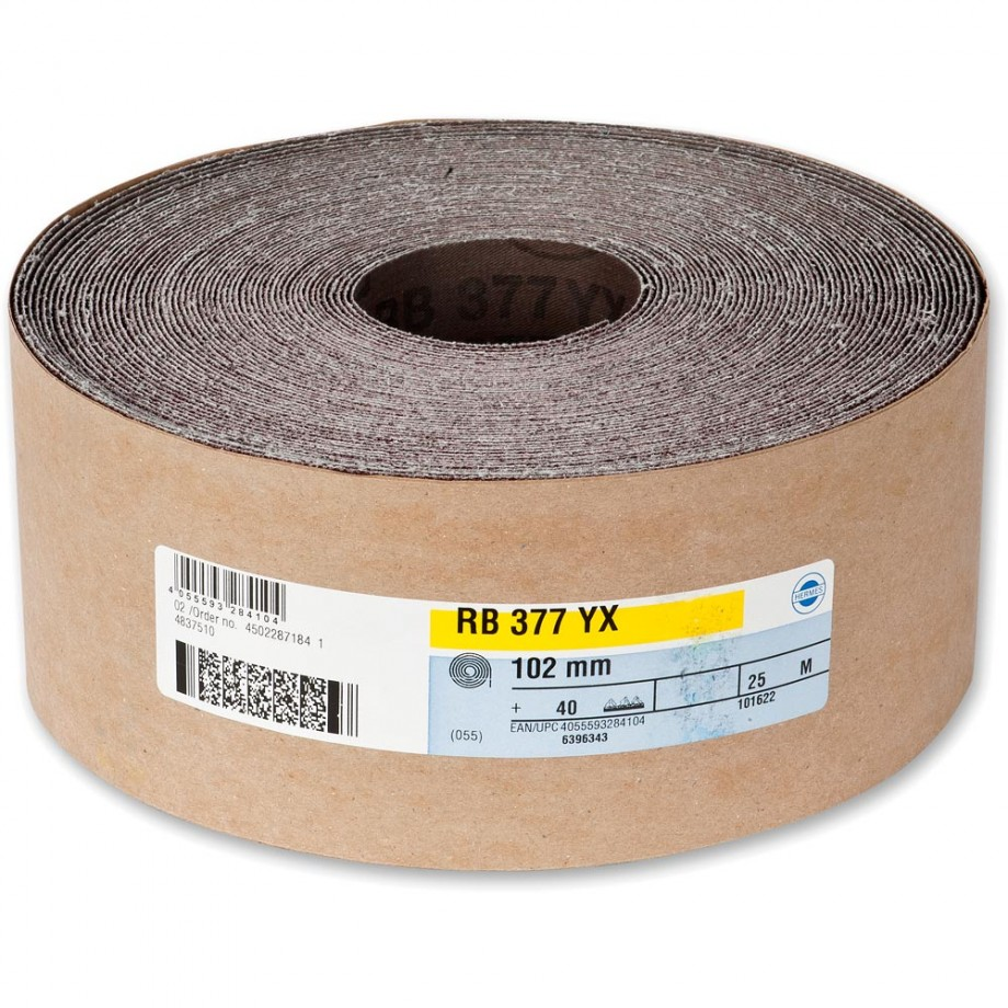 Hermes RB377YX Abrasive Roll 102mm x 25m 40g
