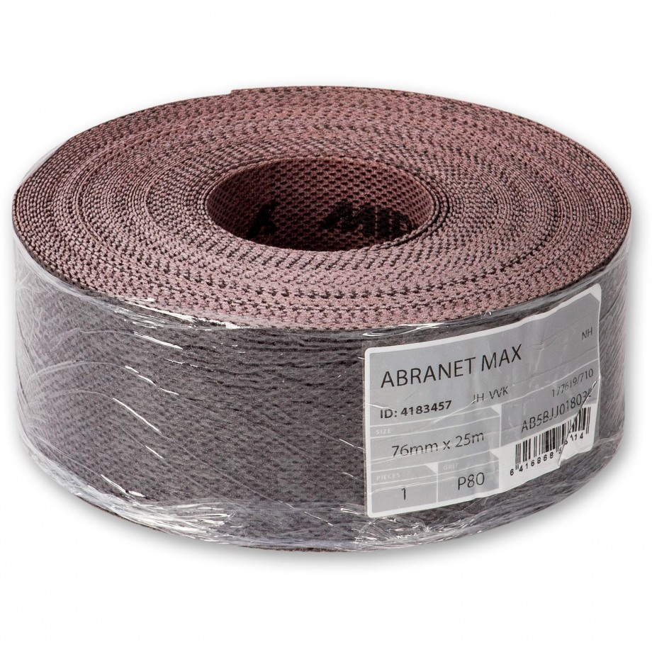 Abranet Max Abrasive Roll 76mm x 25m 100g