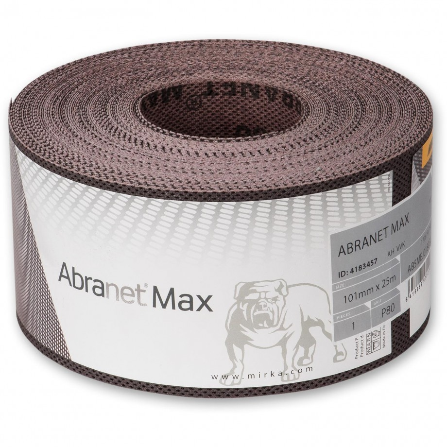 Abranet Max Abrasive Roll 101mm x 25m 180g