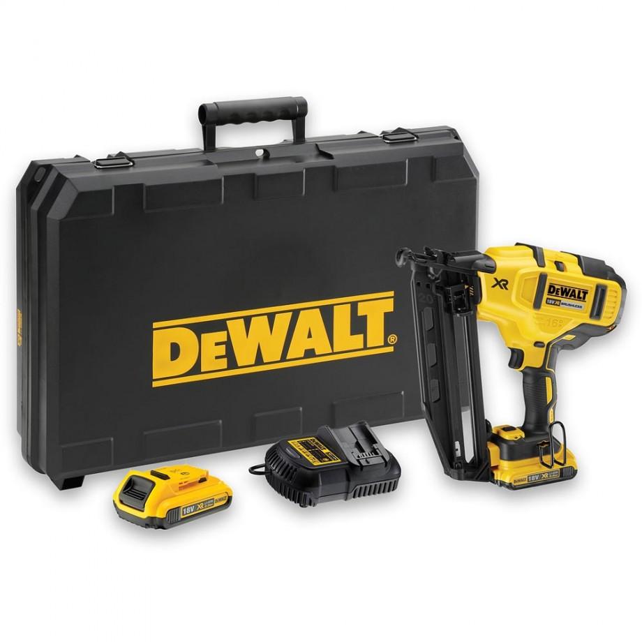 DeWALT DCN660D2 XR Brushless 2nd Fix Nailer 18V (2.0Ah)