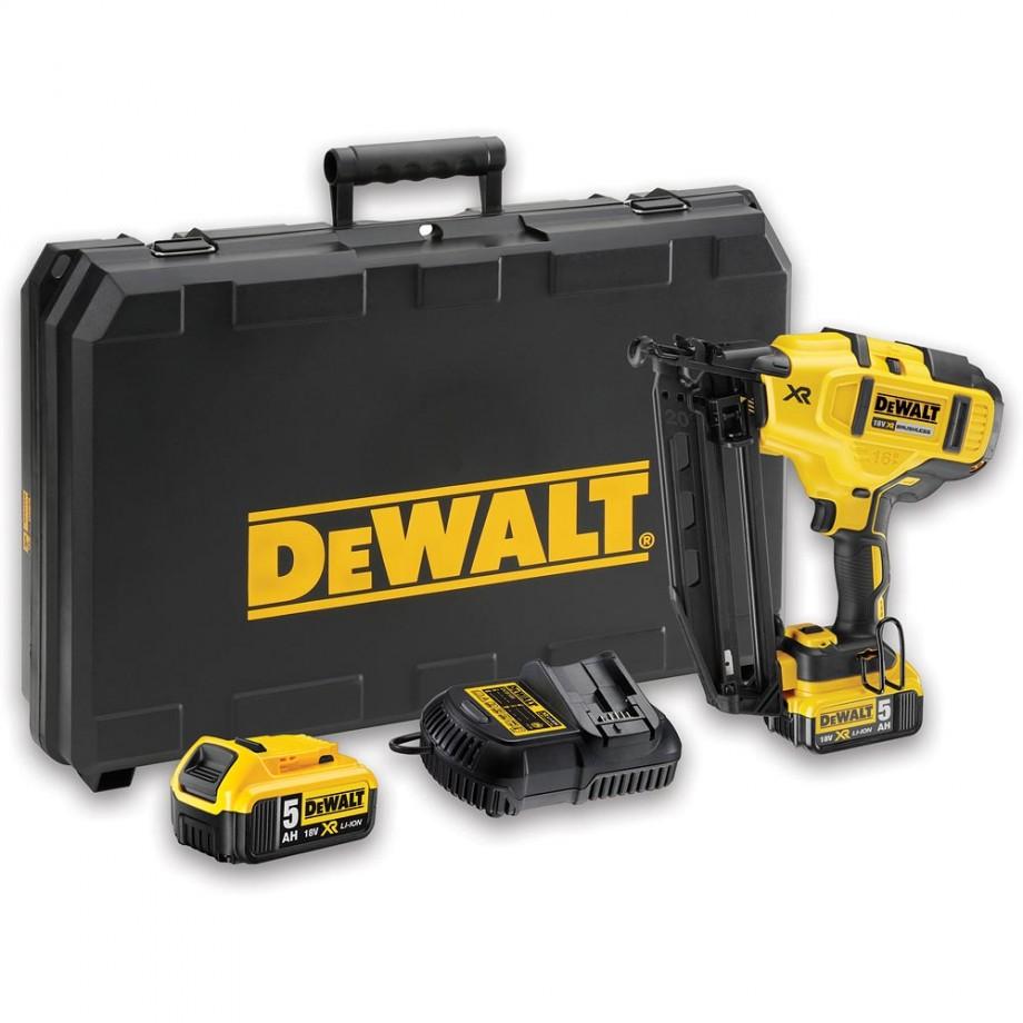 DeWALT DCN660P2 XR Brushless 2nd Fix Nailer 18V (5.0Ah)