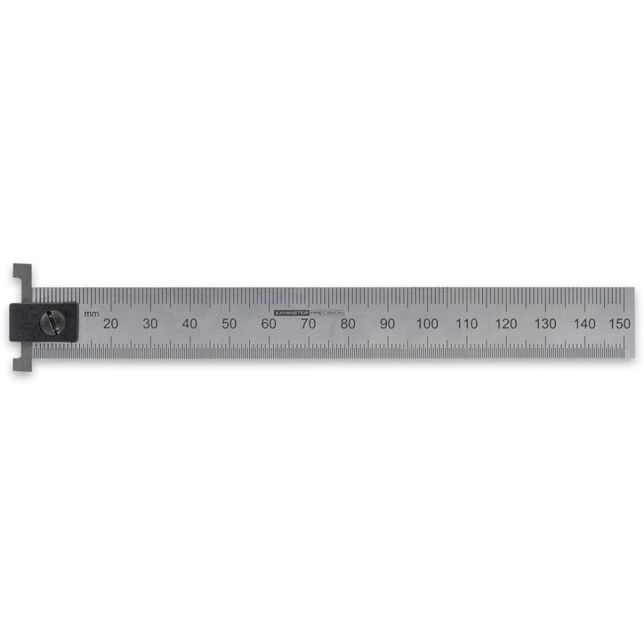 Axminster Precision Hook Rule 150mm - Metric Only