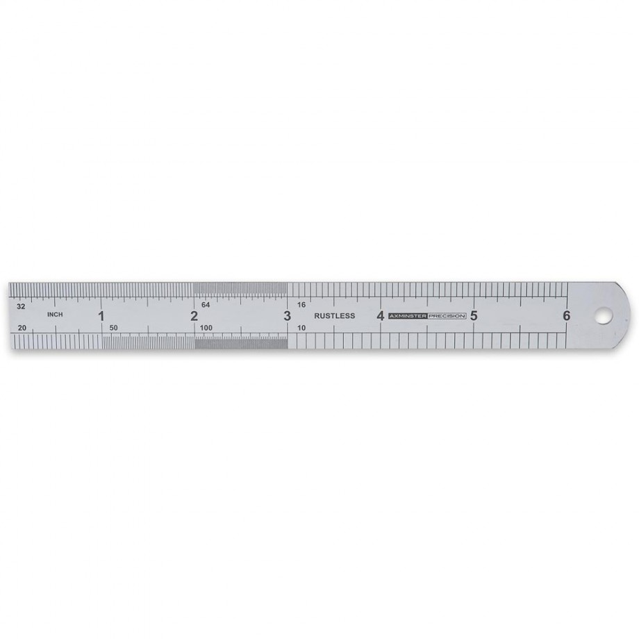 "Axminster Precision Graduation Rule 64R 6"" - Metric & Imperial"