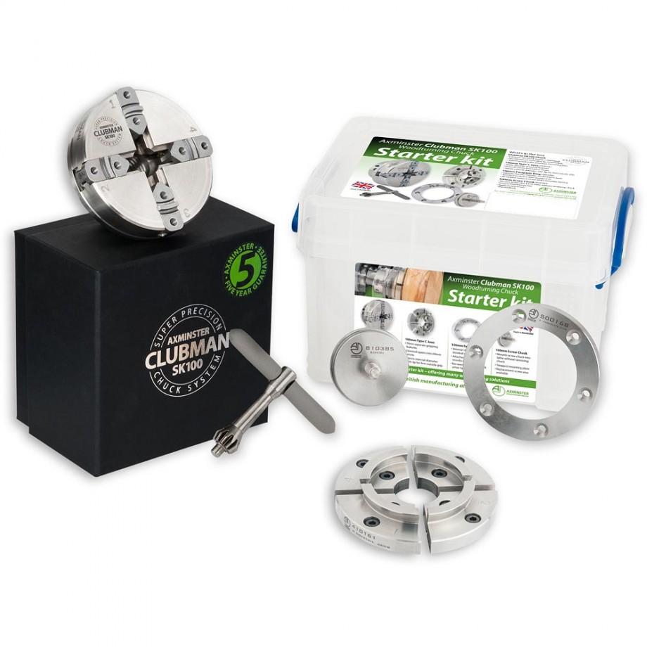 Axminster Woodturning Chucks Starter Kit SK100 Chuck Package - T01