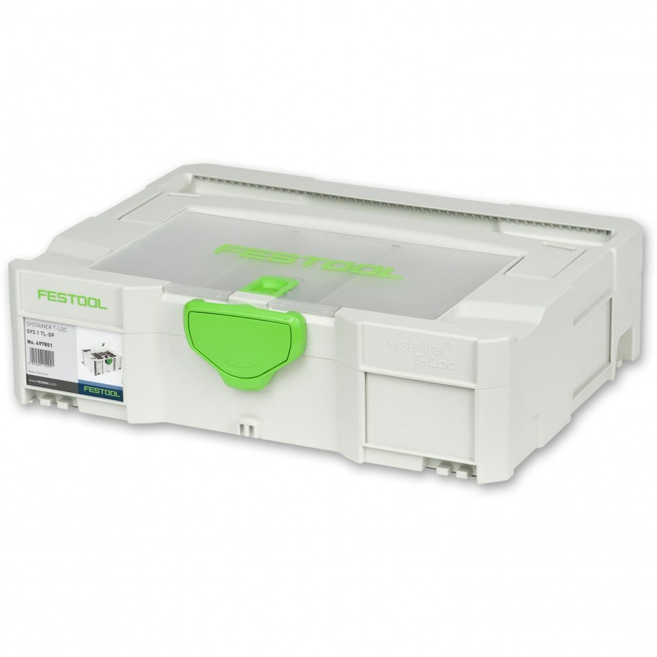 Festool Systainer with Compartment Lid SYS 1 TL-DF