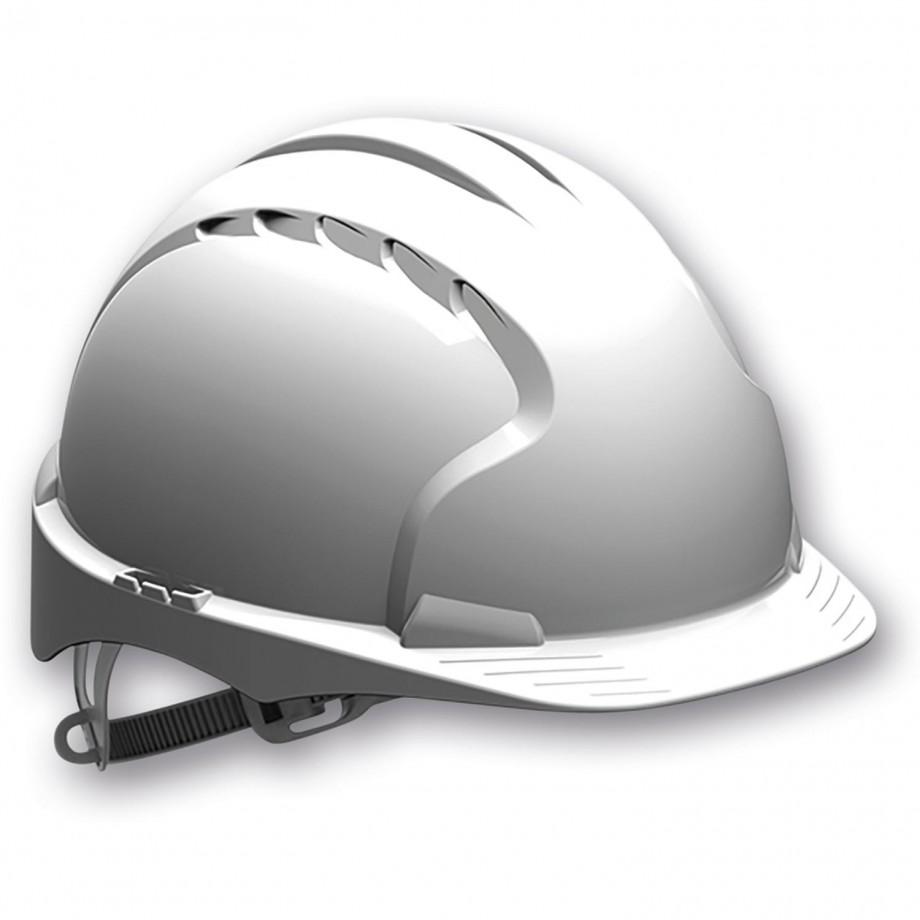 JSP EVO2 Safety Helmet with Slip Ratchet - White