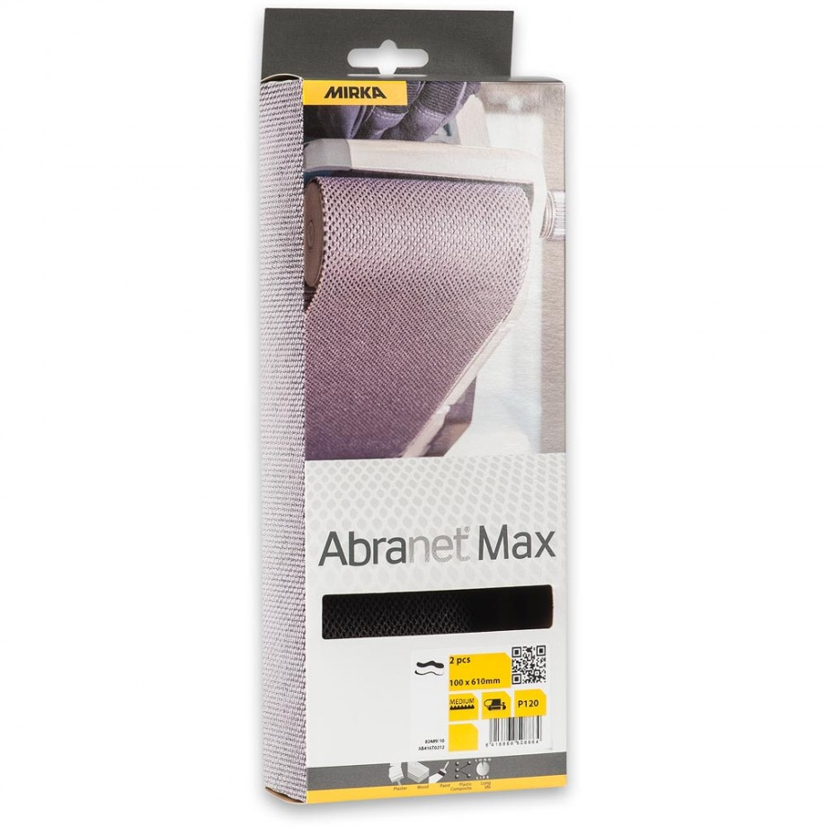 Mirka Abranet Max Abrasive Belt 100 x 610mm 120g (Pkt 2)