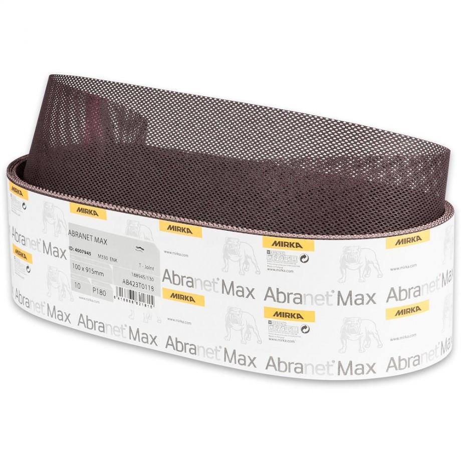 Mirka Abranet Max Abrasive Belt 100 x 915mm 180g (Pkt 10)