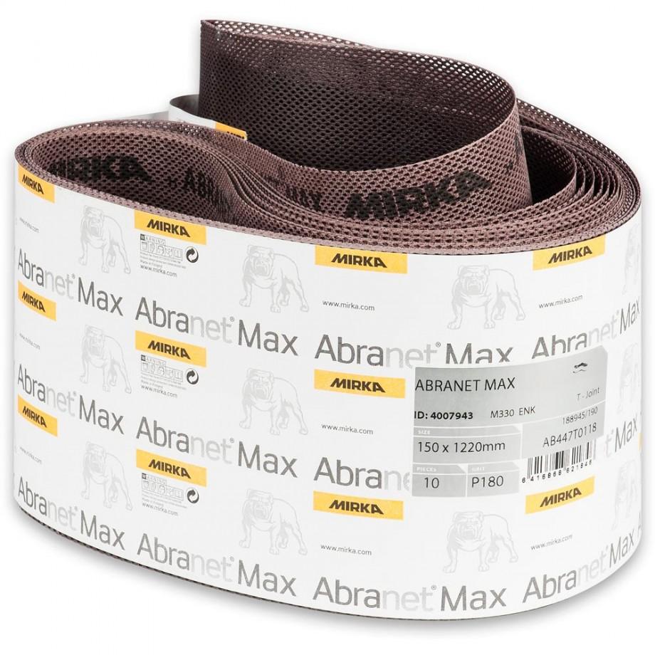 Mirka Abranet Max Abrasive Belt 150 x 1,220mm 180g (Pkt 10)