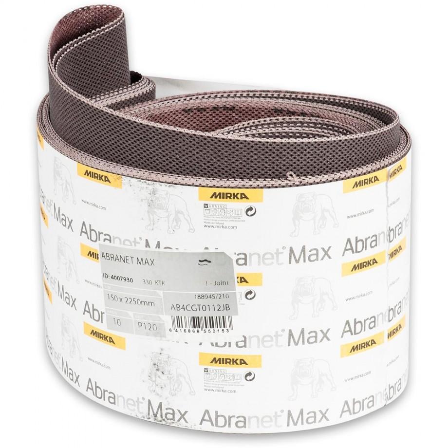Mirka Abranet Max Abrasive Belt 150 x 2,250mm 120g (Pkt 10)