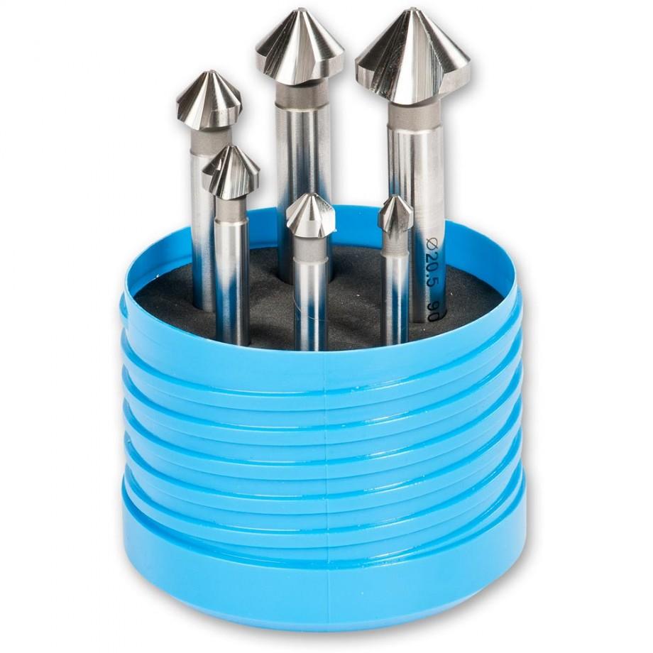 Axminster 6 Piece HSS 3 Flute Countersink Set
