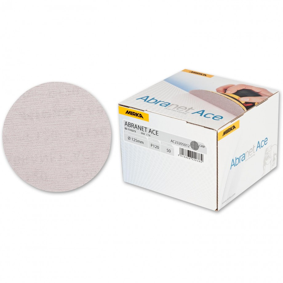Mirka Abranet Ace Abrasive Disc 120g - 125mm (Box 50)
