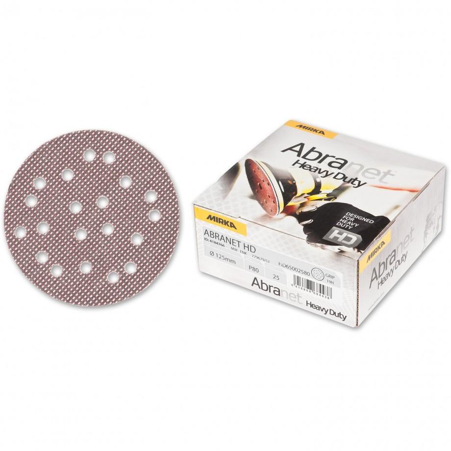 Mirka Abranet HD Abrasive Disc 80g - 125mm (Pkt 25)