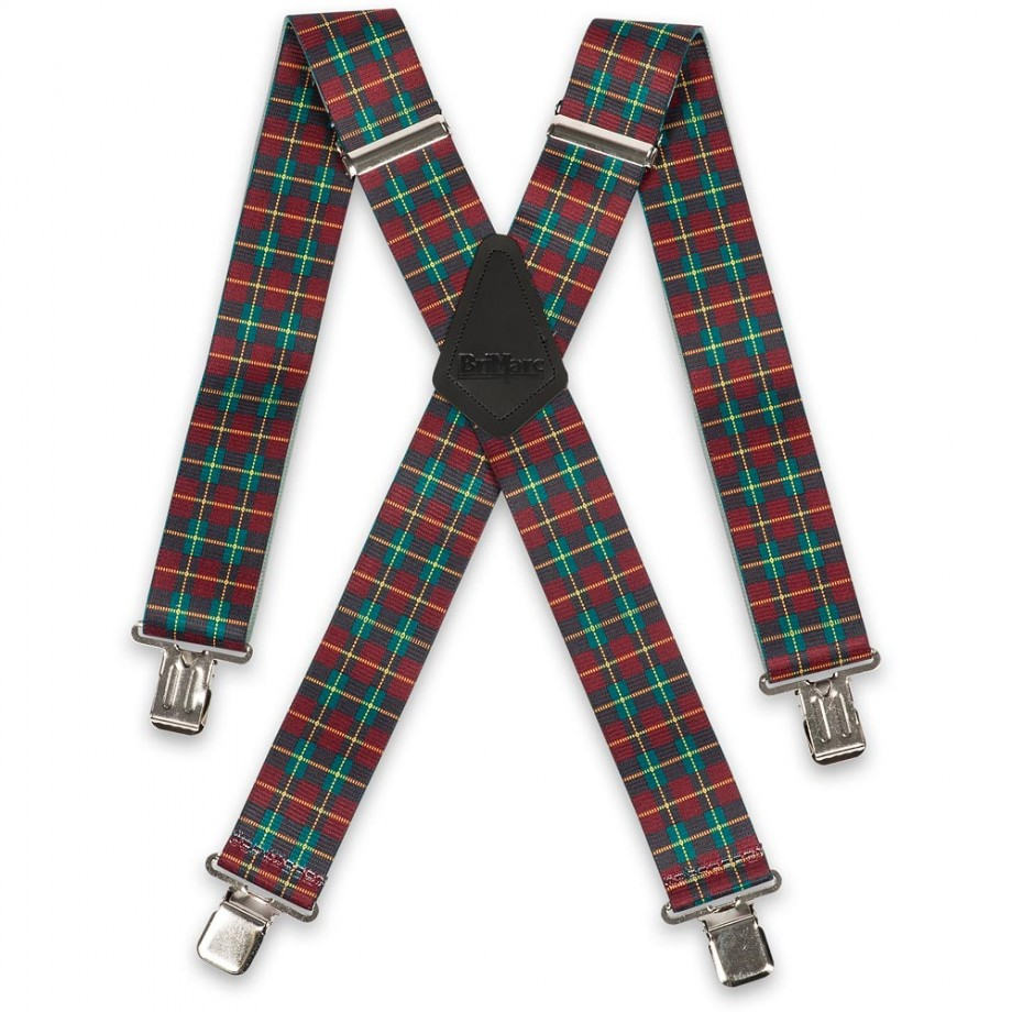 Plaid Red Braces