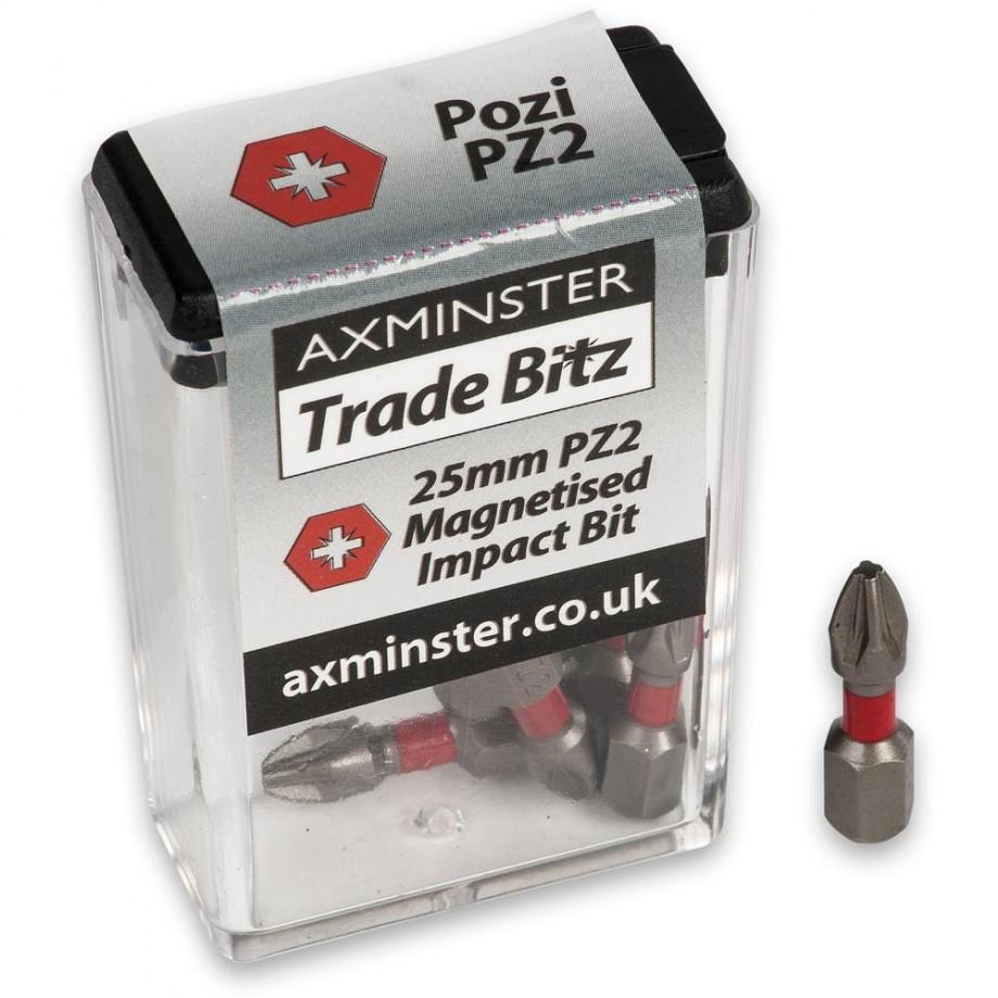 Axminster Trade Bitz PZ2 Impact Bits 25mm (Pkt 10)