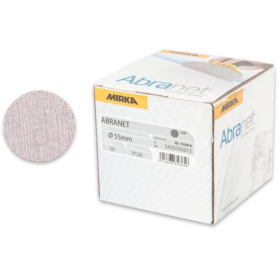 Mirka Abranet Ace 55mm Sanding Disc 120g - (Box 50)