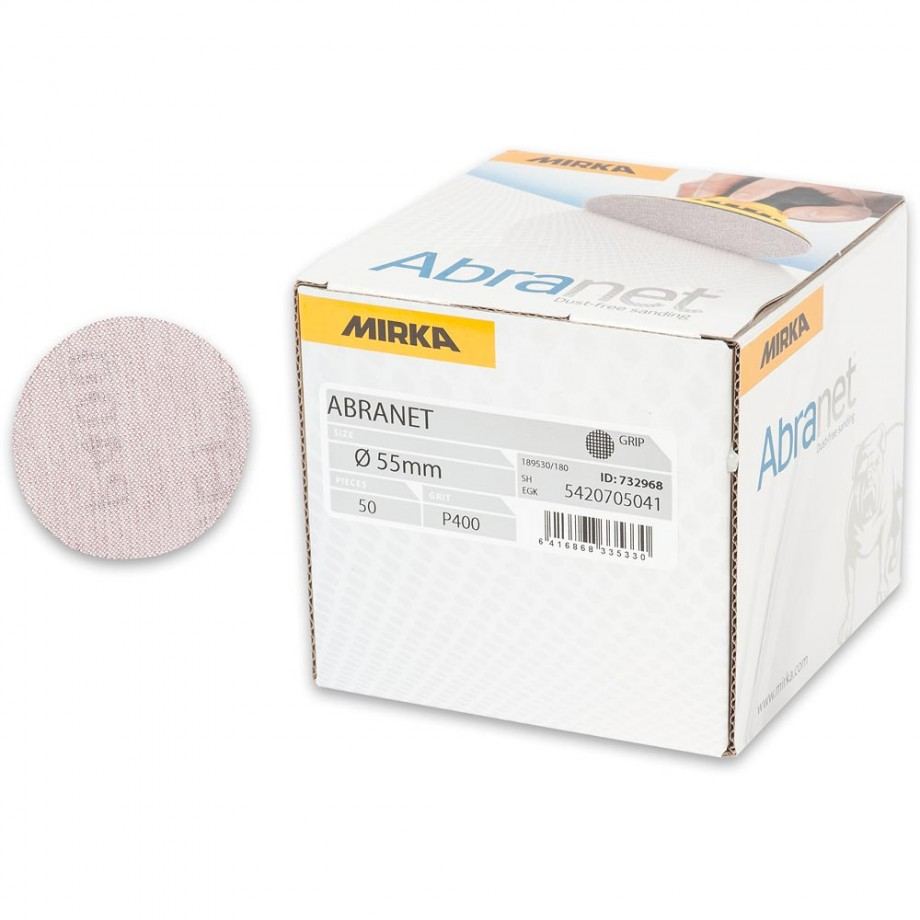 Mirka Abranet Ace 55mm Sanding Disc 400g - (Box 50)