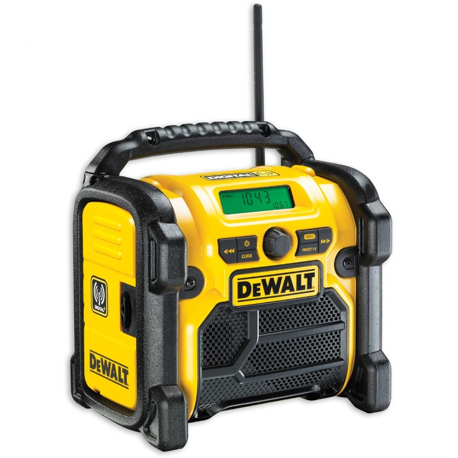 DeWALT DCR020 DAB Radio 230V & Li-Ion (Body Only)