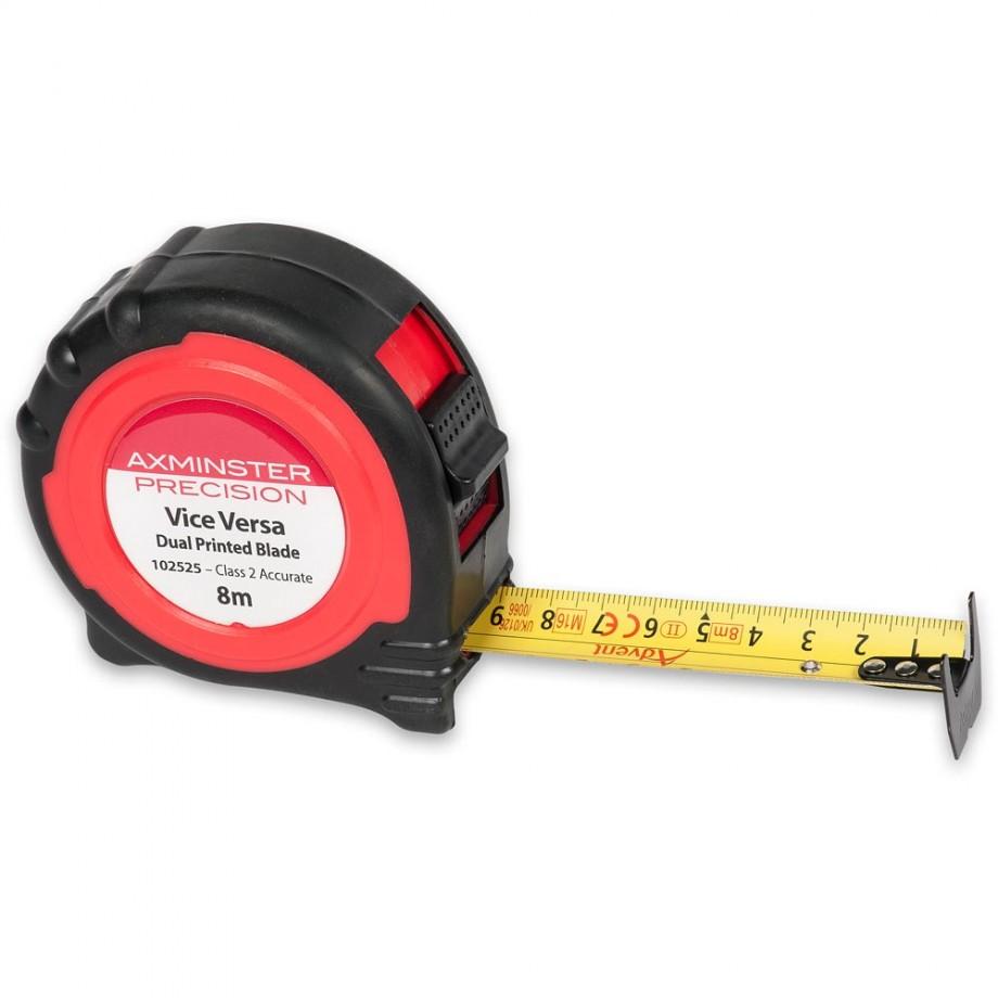 Axminster Precision Metric Vice-Versa Tape 8m