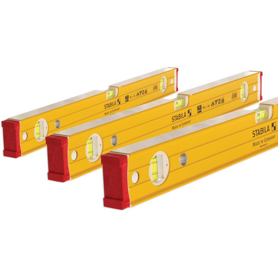 Stabila 96-2 Level Pack 60cm + 120cm + 180cm