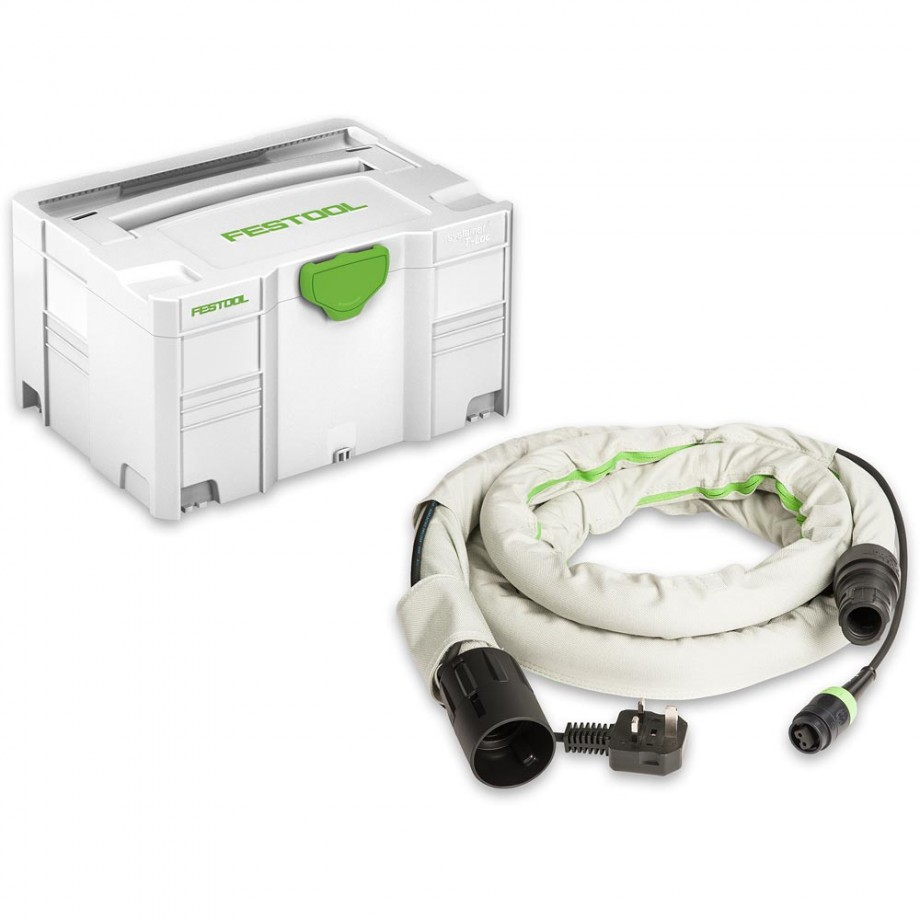 Festool Covered Hose D27/22 Plug-It Cable in SYS3