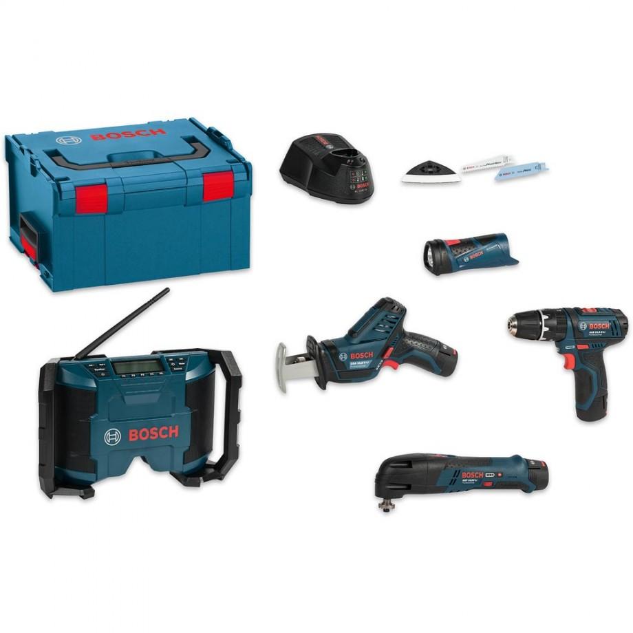 Bosch 12V 5 Piece Kit 10.8/12V (2.0Ah)