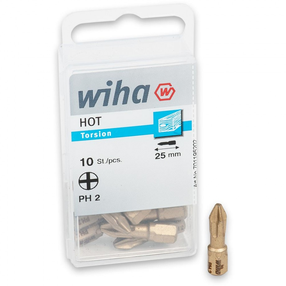 Wiha Phillips Ph2 HOT Bits (Pkt 10)