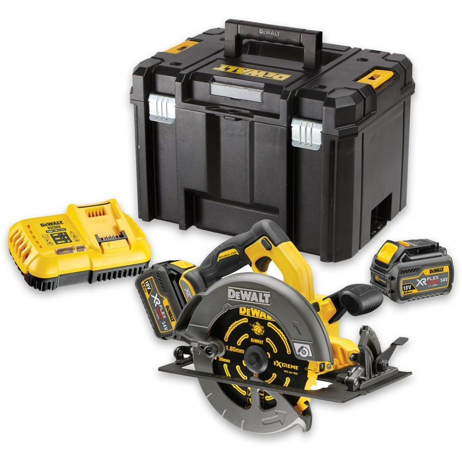 DeWALT DCS575T2 XR FLEXVOLT Circular Saw 2 x 54V Batteries