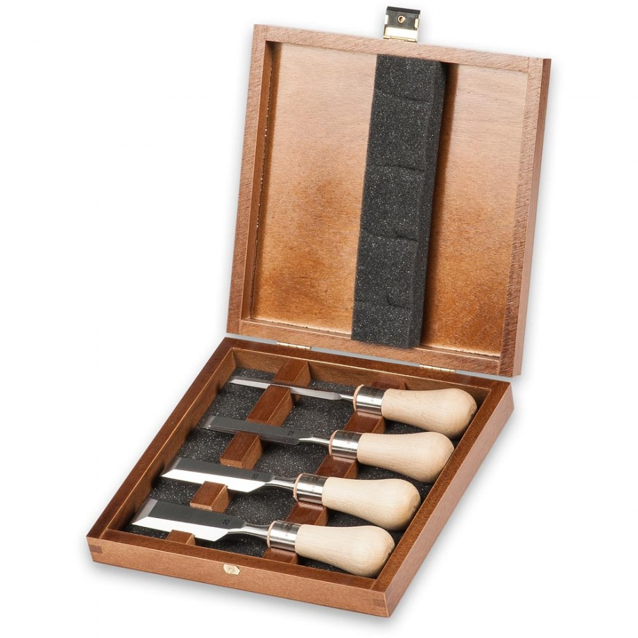 Axminster Rider 4 Piece Butt Chisel Set