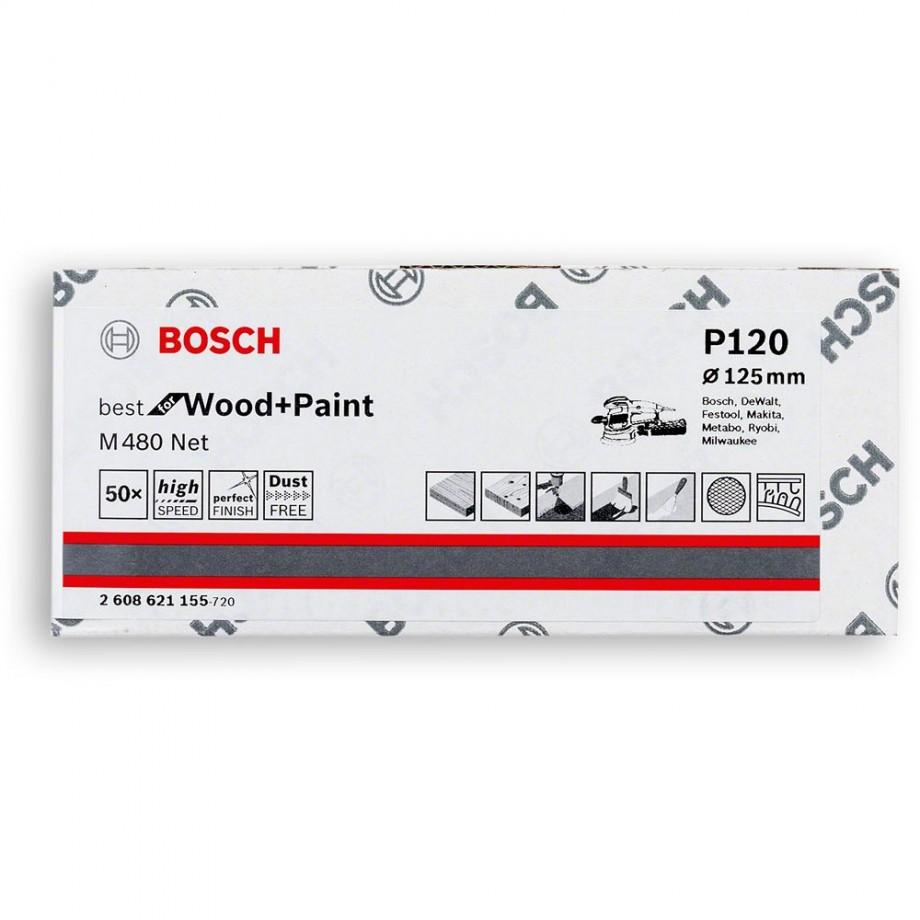 Bosch Net M480 Abrasive 125mm x 120G Pkt 50
