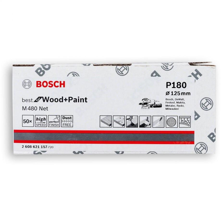 Bosch Net M480 Abrasive 125mm x 180G Pkt 50
