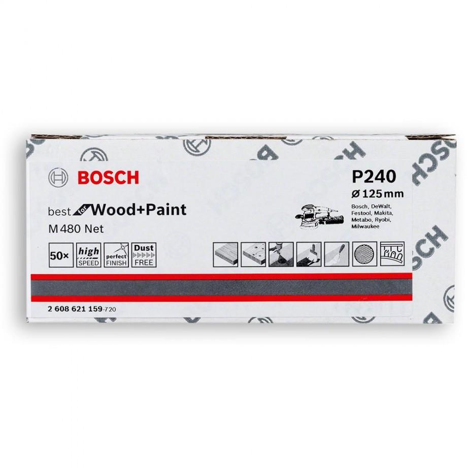 Bosch Net M480 Abrasive 125mm x 240G Pkt 50
