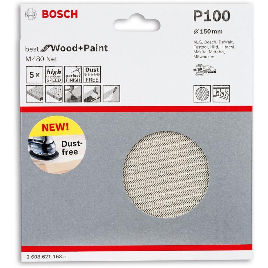 Bosch Net M480 Abrasive 150mm x 100G Pkt 5