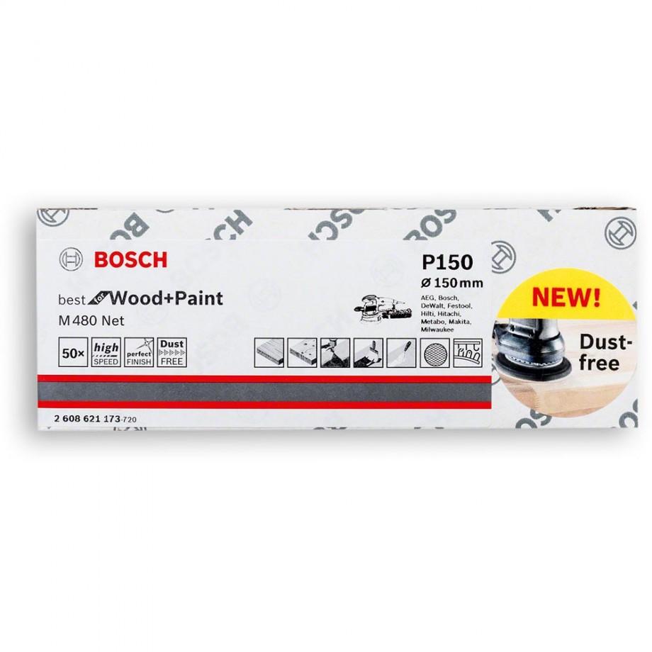 Bosch Net M480 Abrasive 150mm x 120G Pkt 50