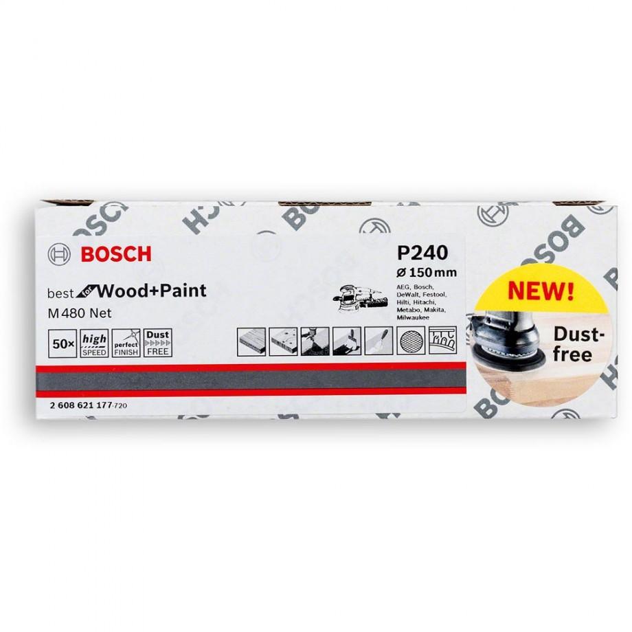Bosch Net M480 Abrasive 150mm x 240G Pkt 50